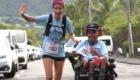Un bénéficiaire du Samsah Sud du PMS Raphaël Babet et son accompagnatrice sur le 5 km